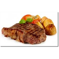 Rumpsteack vom Grill mit Beilage (Rosmarin Kartoffeln und Gemüsen)
