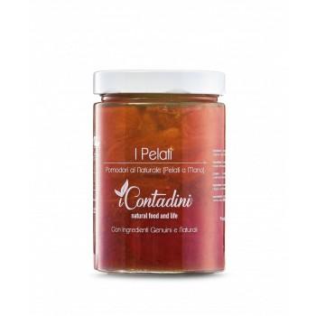 I Pelati - Pomodori Al Naturale von Hand geschält 550 Gr. Diese Tomatensorte wird von April bis Mai auf unserer Farm auf freiem Feld angebaut. In den Monaten Juli und August werden die Tomaten von Hand geerntet und verarbeitet: