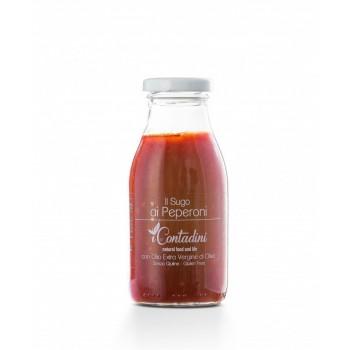 Il Sugo - Ai Peperoni 250g Unsere besten Paprikaschoten treffen auf die echteste und natürlichste Tomatensauce, die es gibt. Sowohl Tomaten als auch Paprika werden in unserem Unternehmen auf freiem Feld angebaut