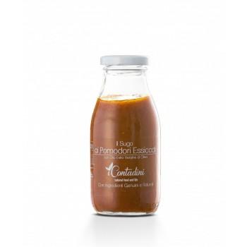 Il Sugo - Ai Pomodori Essiccati 250g Doppelte Version von Tomaten, in dieser sehr leckeren Sauce. Es gibt frische Tomaten Und dann gibt es unsere typische getrocknete Tomate, so gut wie nur wir wissen, wie man es macht,